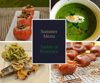 Summer Menu Perfectly Provence