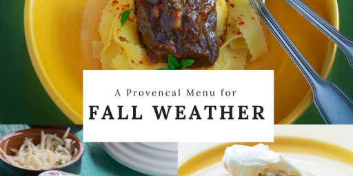Fall Dinner Menus Provence