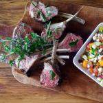 Provencal Lamb Chops Lavender Honey Moroccan Couscous salad