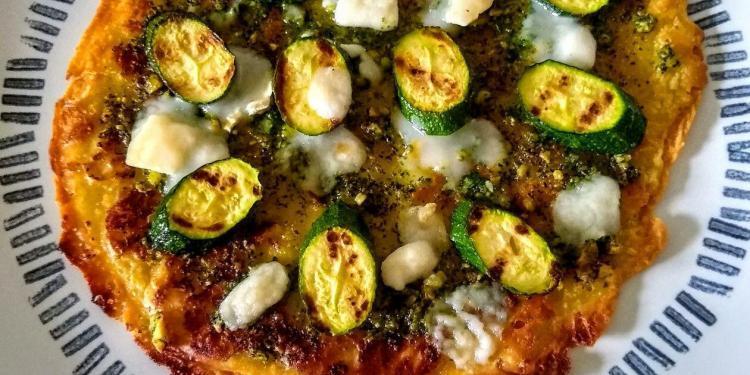 Socca Pizza Courgette Gluten-Free