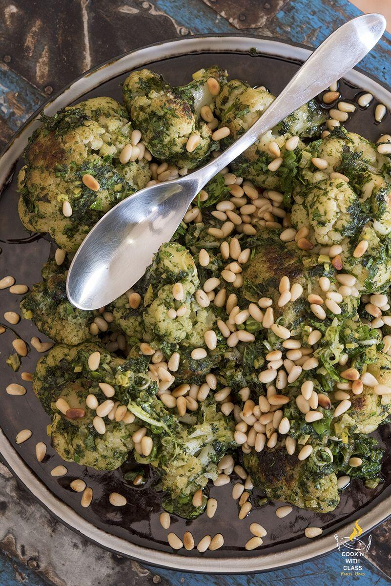 Cauliflower Salad Cilantro Pesto