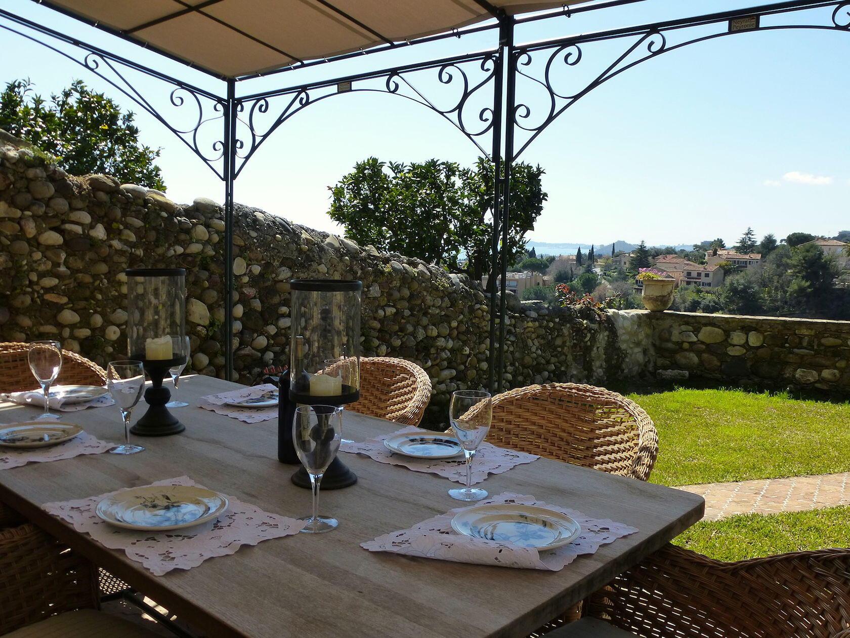 Culinary Adventure Provence Grande Vue garden haut de cagnes
