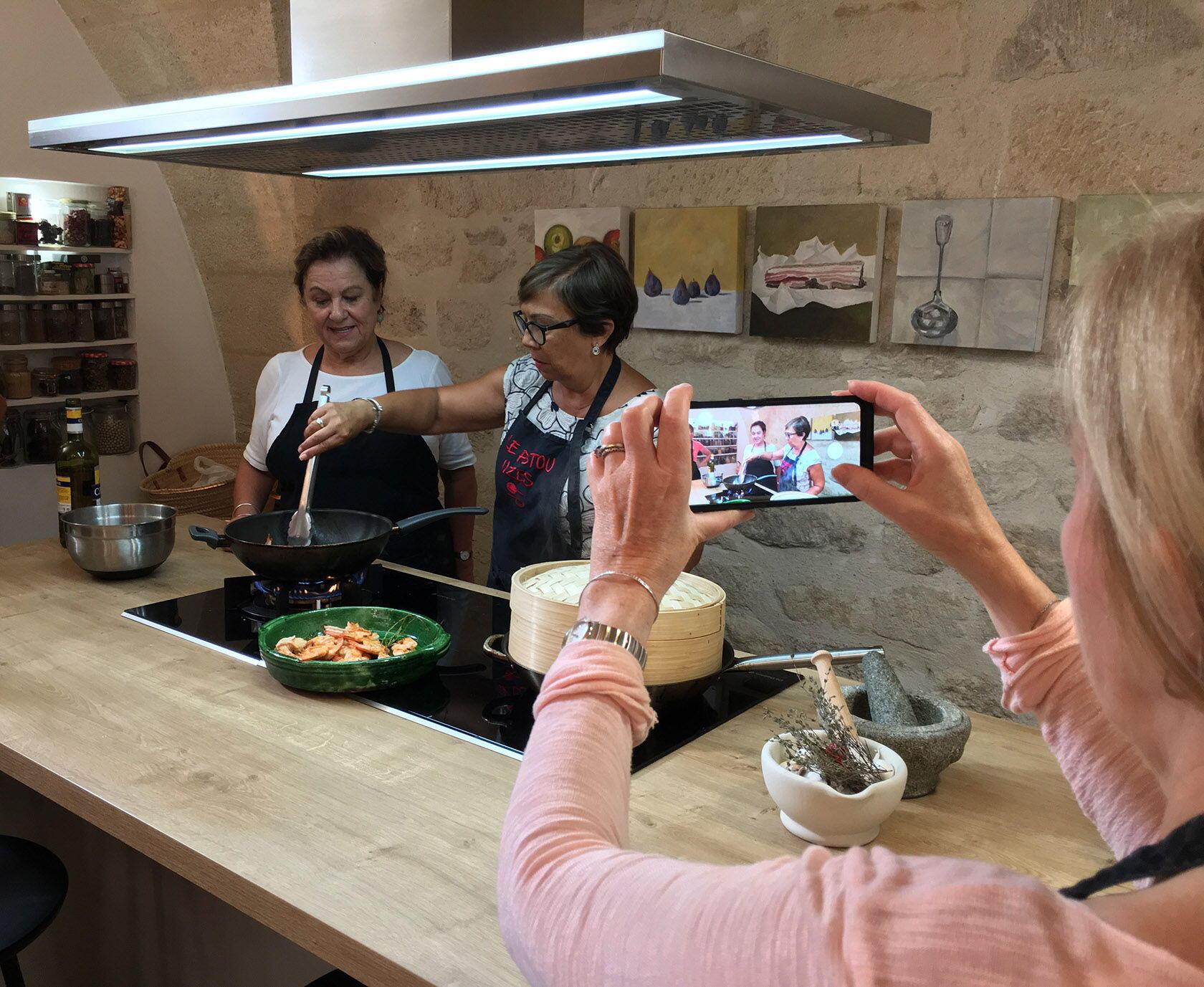Le Pistou Cookery School Uzès Ready to Flambée