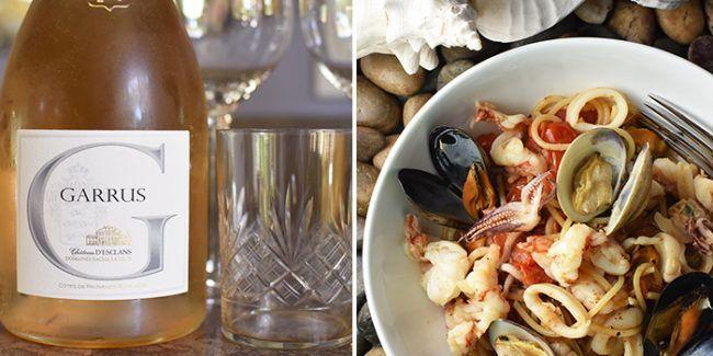 Seafood Pasta Provence Wine Château d'Esclans Cuvée: Garrus