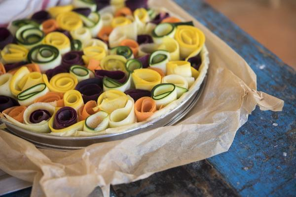 Rose Vegetable Tart