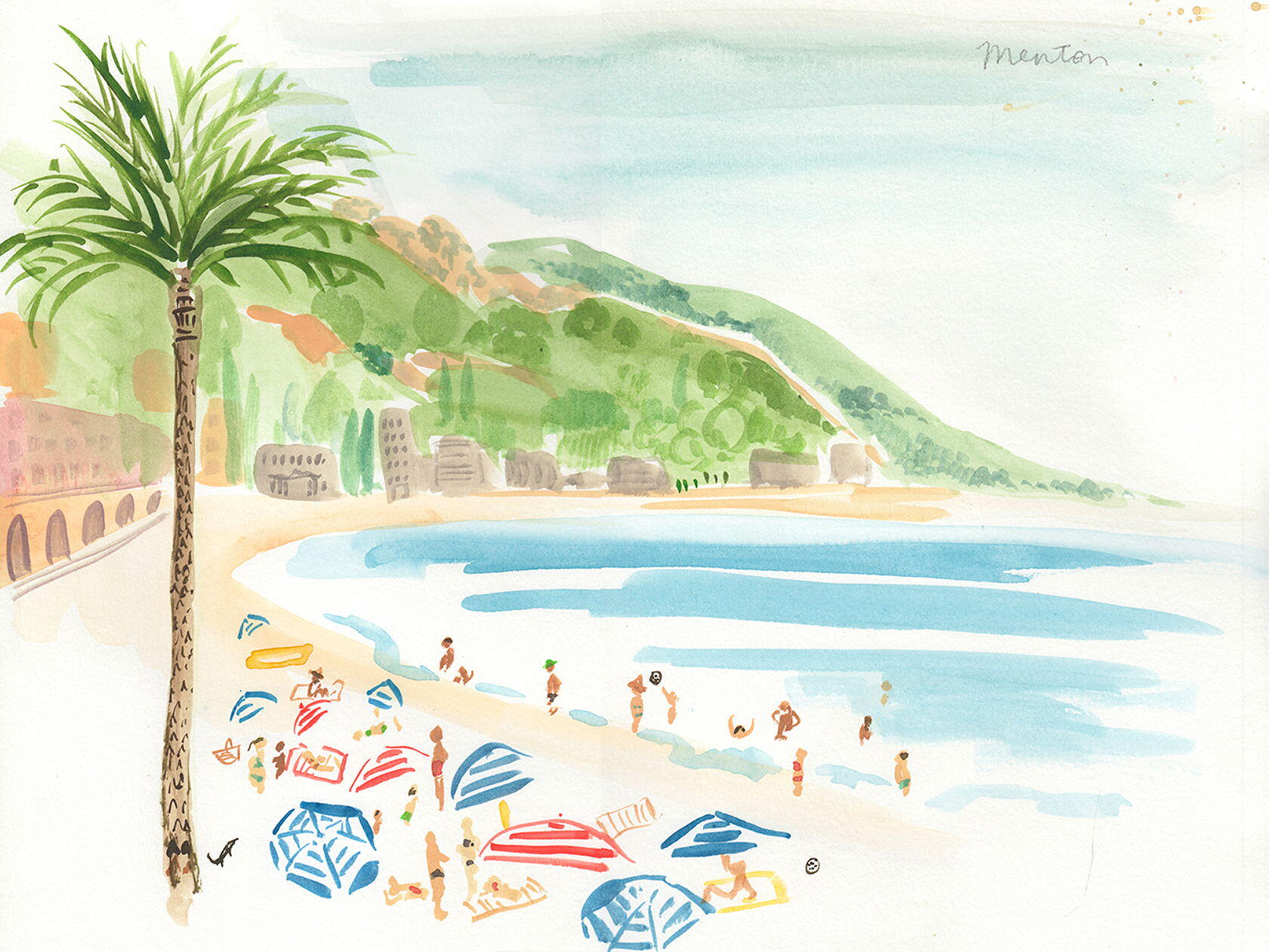 Virginia Johnson's Travels French Riviera menton beach scene