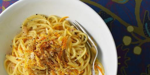 Spaghetti Citrus Cream Sauce