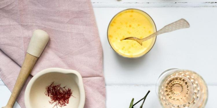 Saffron Panna Cotta Recipe