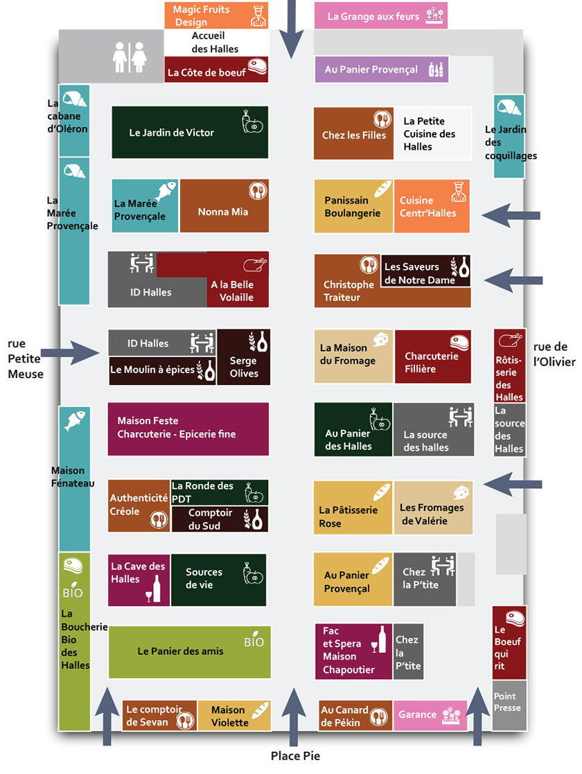 Plan Marché des Halles