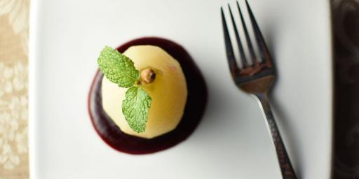 Stuffed Poached Pears