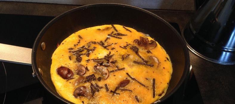 Mushroom Truffle Omelette