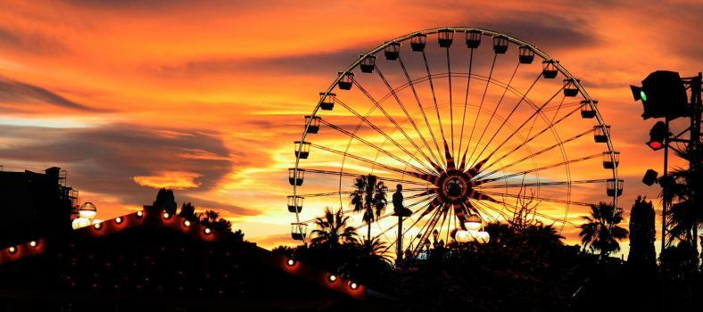 French Riviera Winter Festivals Ferris Wheel