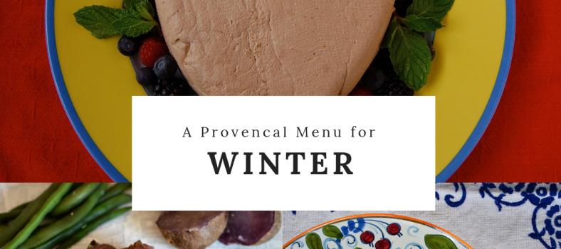 Provencal Winter Menu Friends 2018