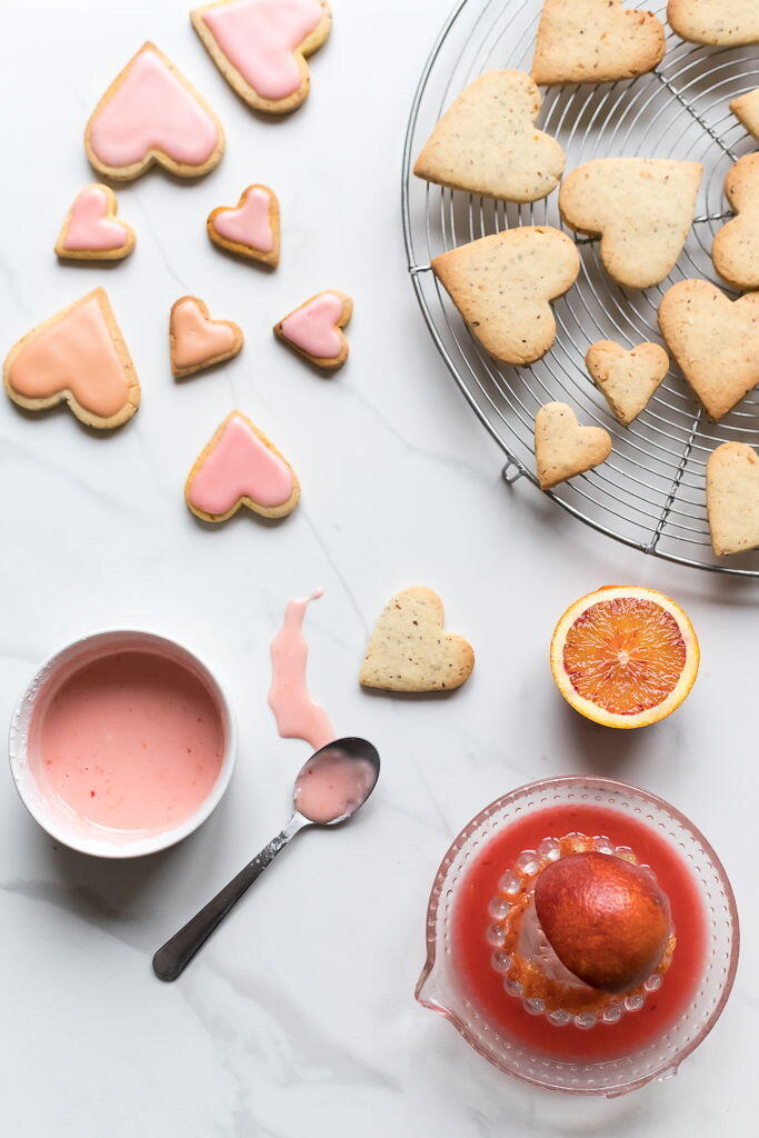 Citrus Almond Valentine's Cookies