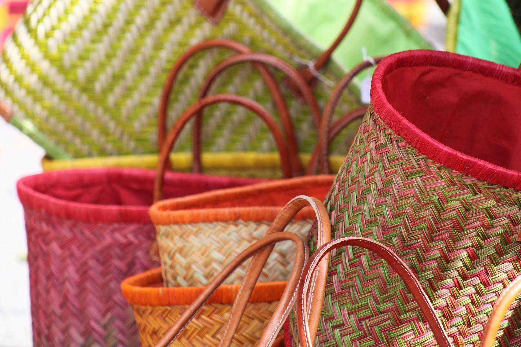 Market shopping baskets Provence