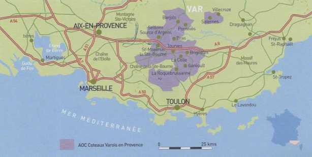 Wine Region Coteaux Varois Provence