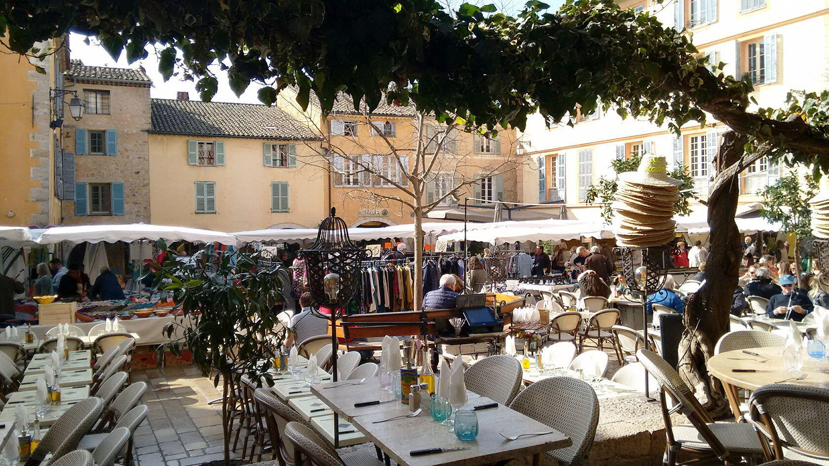 French Riviera Valbonne's Friday market