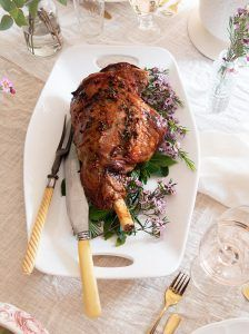 Roasted Leg of Lamb with Rosé Glaze