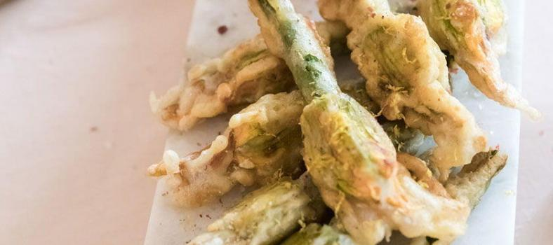 Easter Lunch Menu Stuffed Courgette Flowers