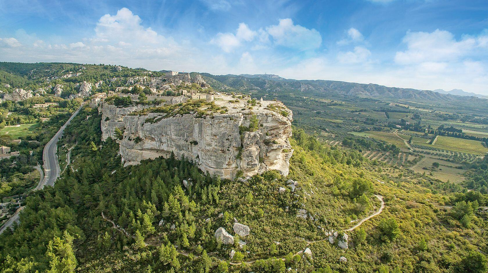 Chateau Les Baux de Provence Alpilles from Air 3