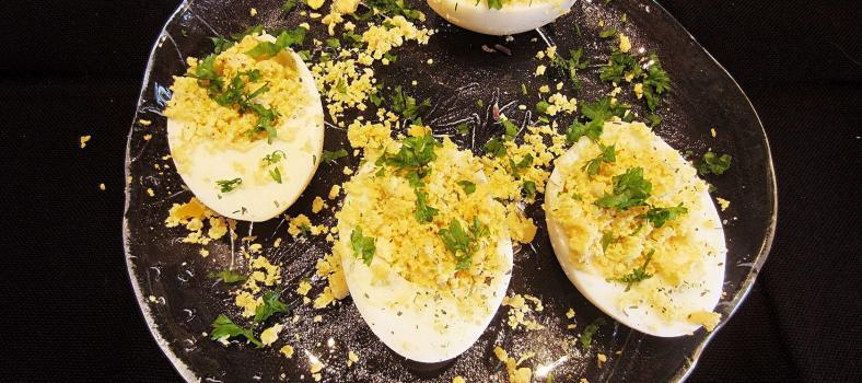 Mimosa Deviled Eggs