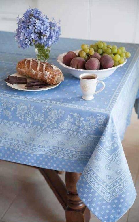 RP Nappe Jacquard Durance bleue