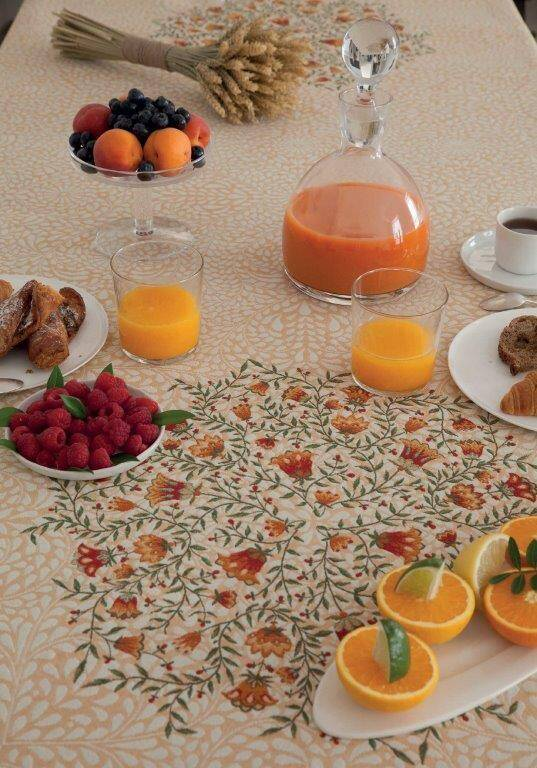 Remember Provence Shopping Nappe jacquard Aubrac orange