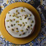 Lemon-Frosted Pistachio Cake