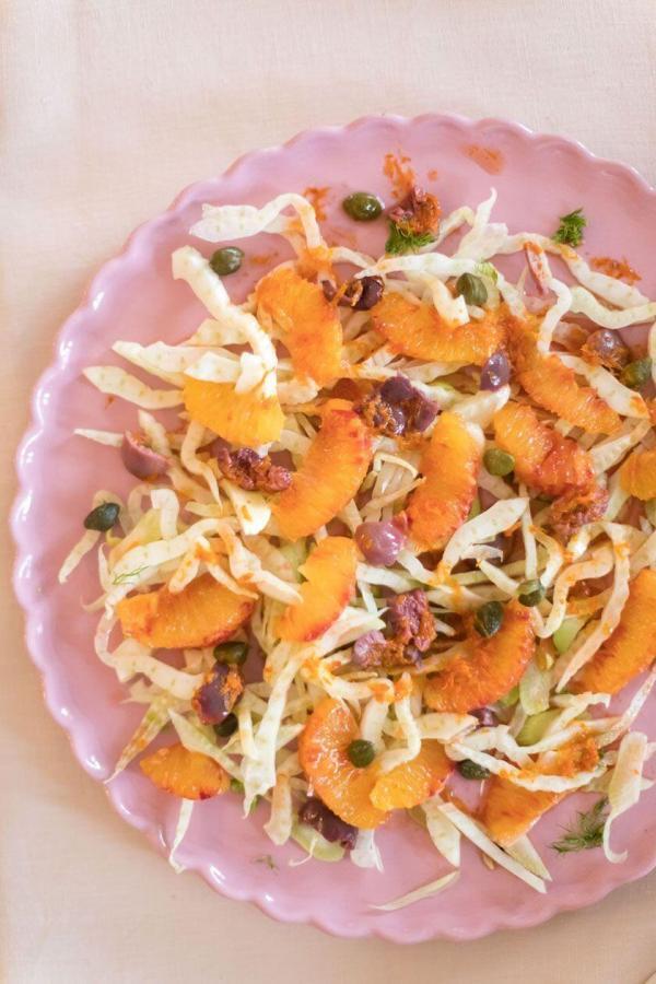 Citrus Salad Orange Fennel Olives Capers