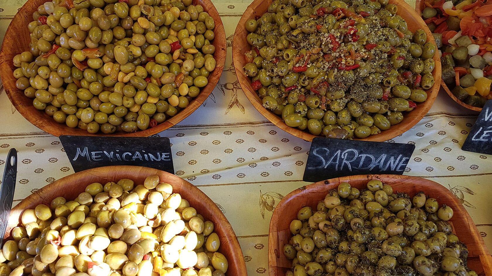 Market olives Cotignac Provence Var