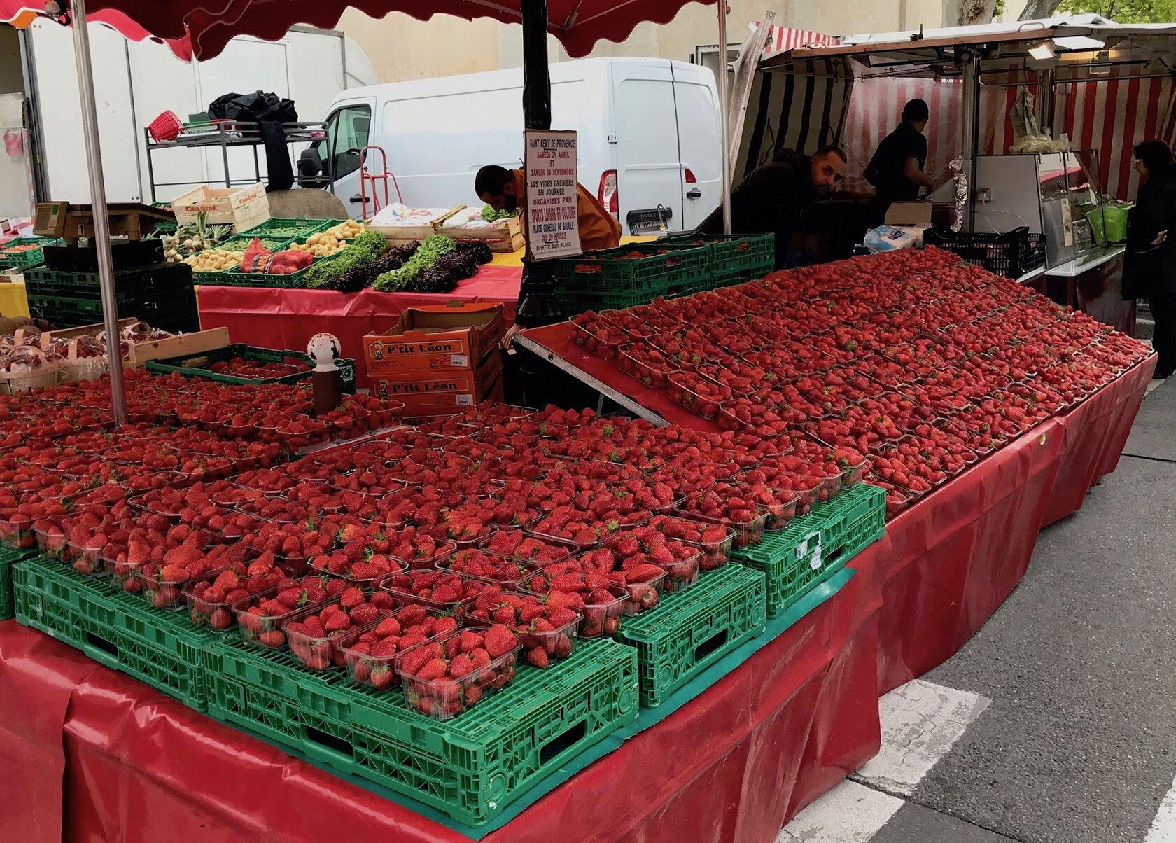 Market strawberries in St Remy de Provence
