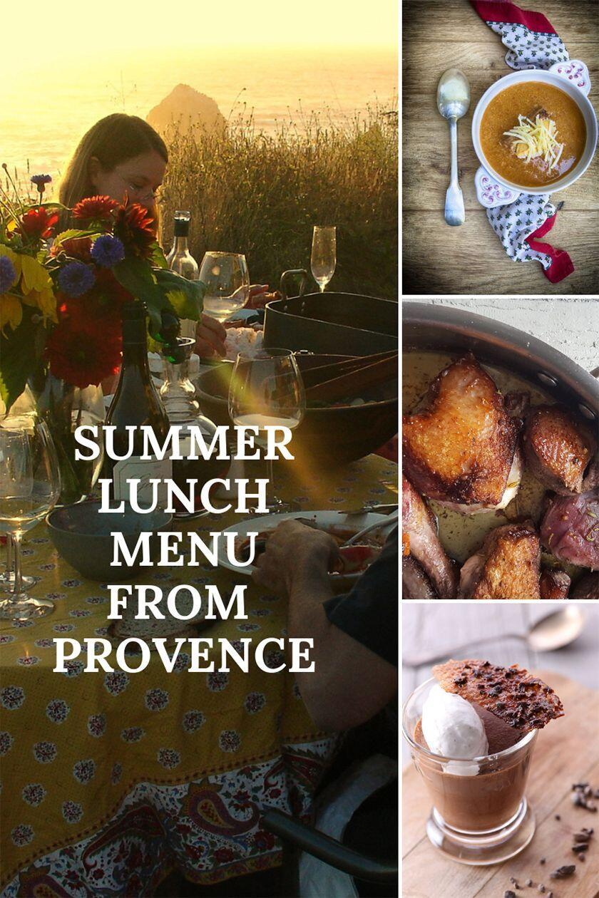 Provencal Summer Lunch Menu Perfectly Provence 2019