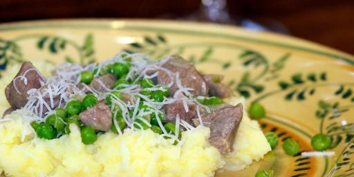 Slow-Cooked Spring lamb and Peas