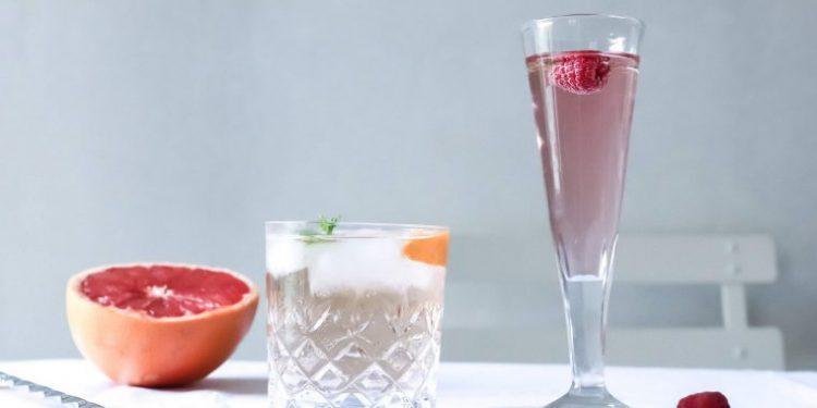 Sparkling Rosé Cocktail Pink Fizz