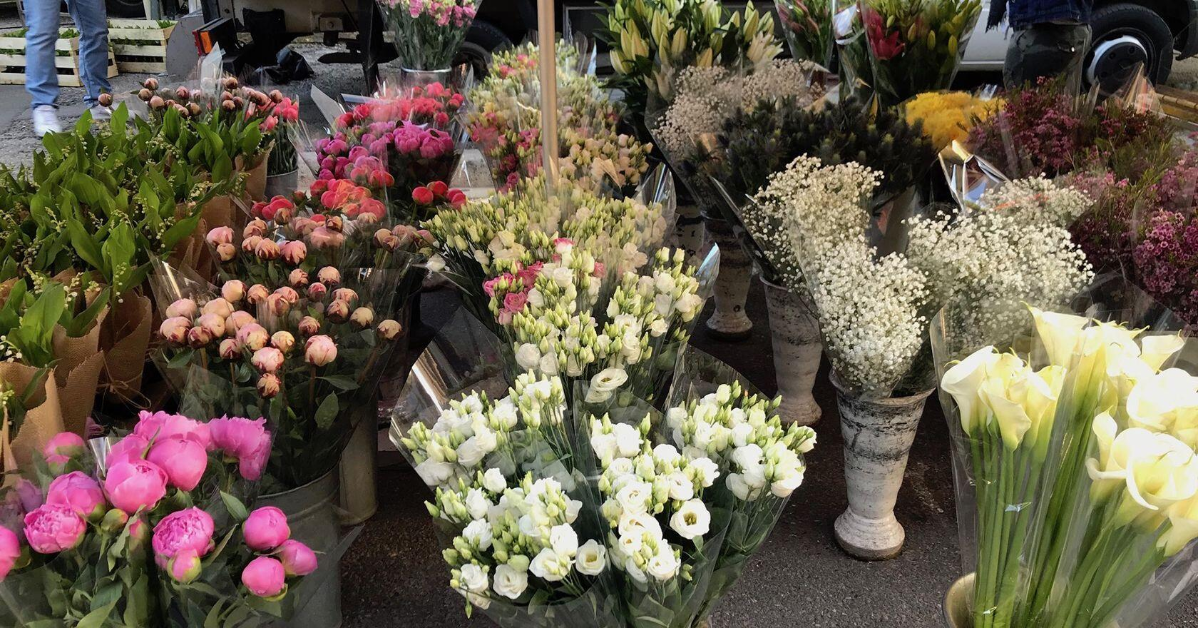 St Remy Market flowers