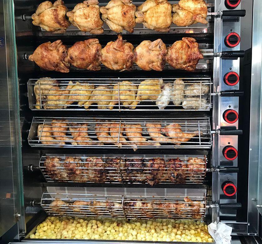 Wednesday Market St-Remy rotisserie chicken