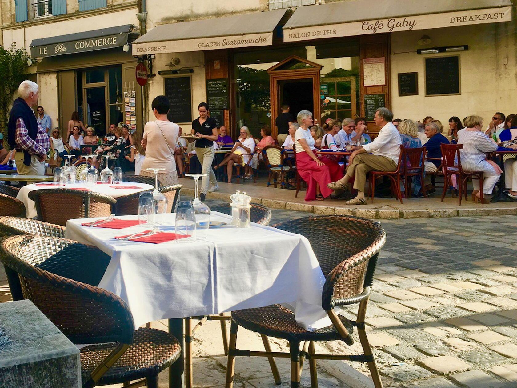 Cafe Gaby Lourmarin Fridays Market Day