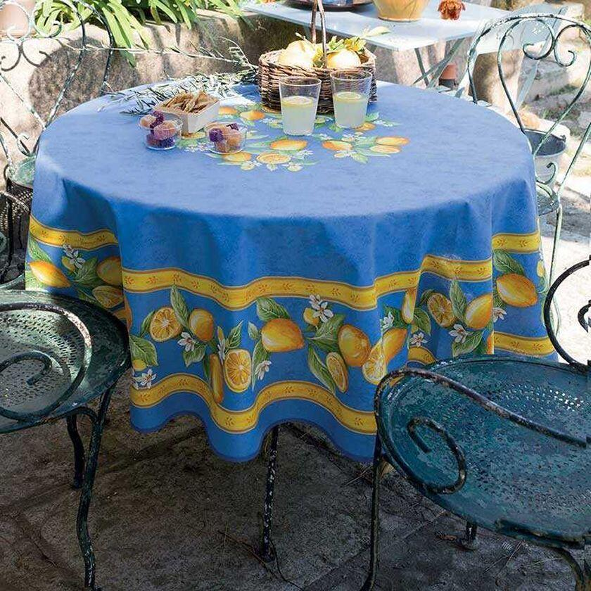 Provencal Fabrics cotton-tablecloths-round-shape-printed-citron