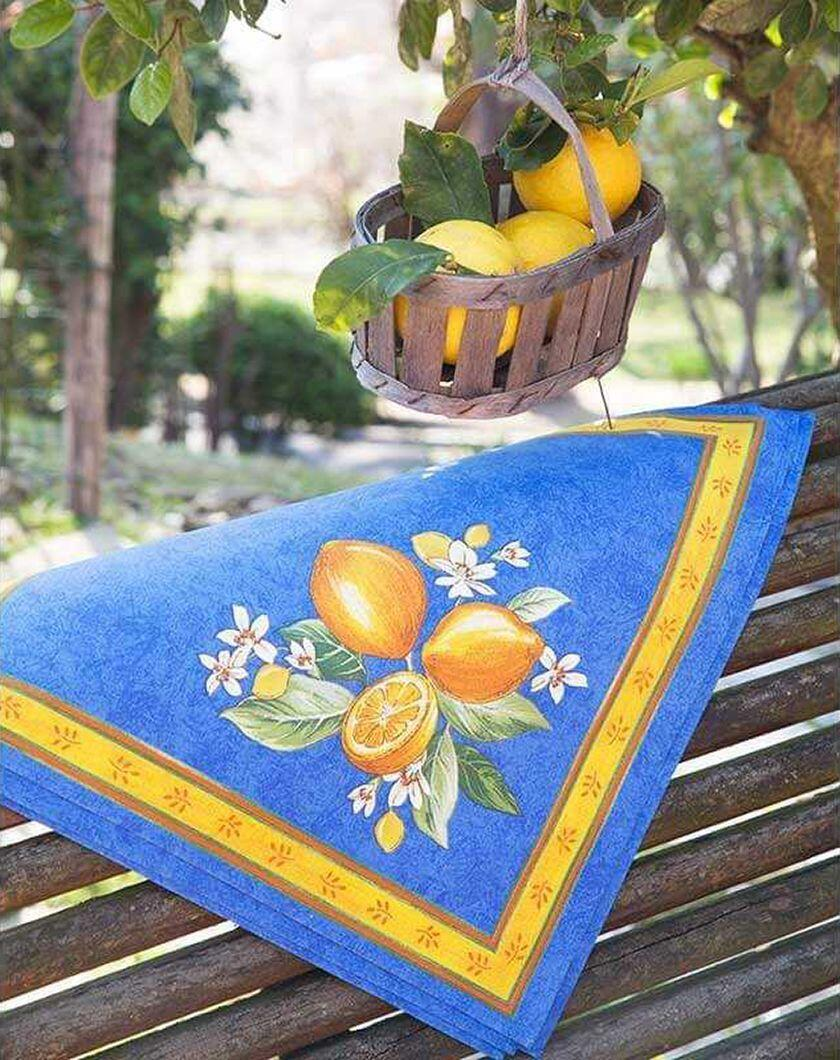 Provence cloth-napkins-citron-printed-cotton