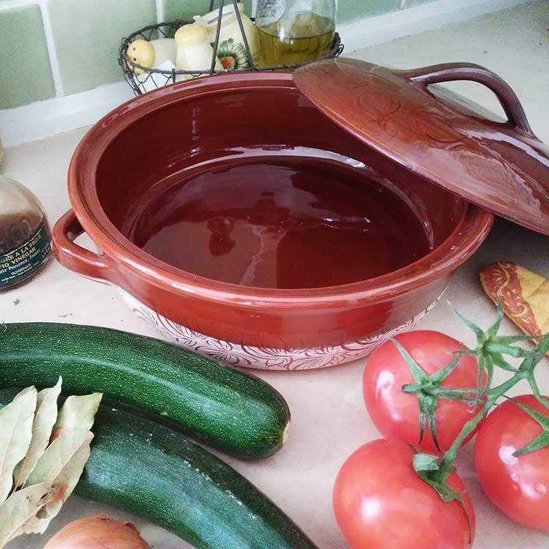 Vallauris Pottery French Riviera Casserole Dish