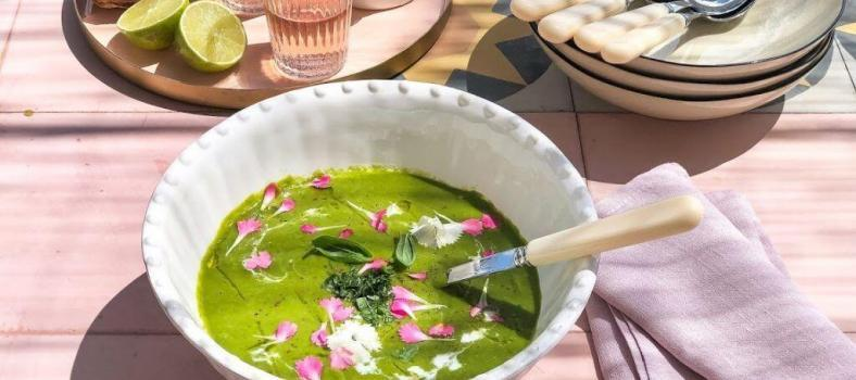Green Melon Gazpacho Chilled Soup