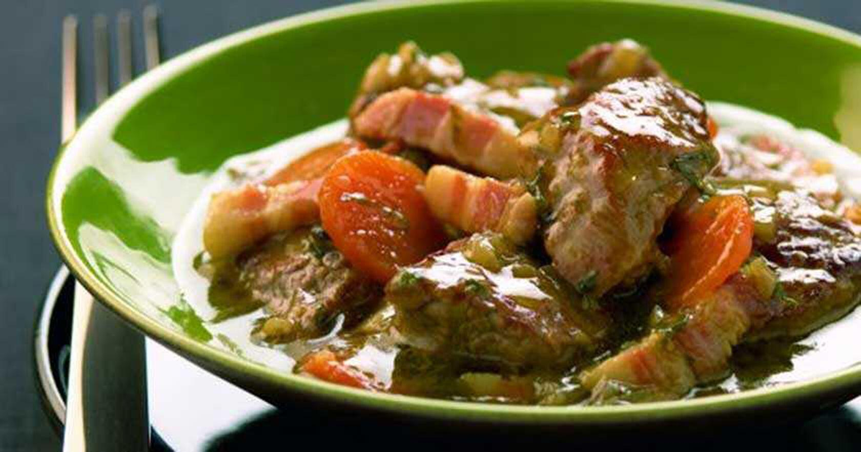Provencal Daube Lamb Stew Côte du Rhône Wine