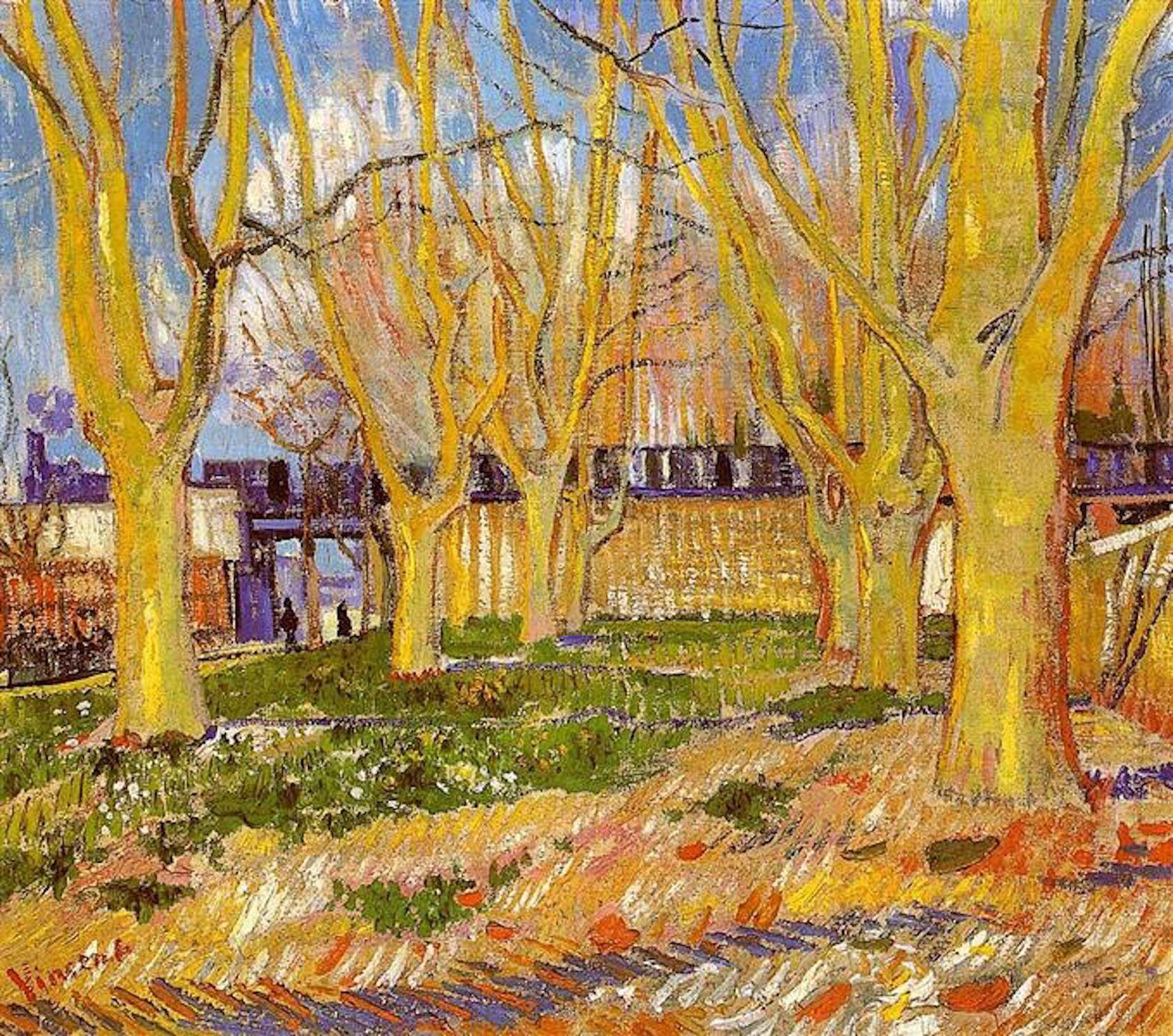 Vincent Van Gogh avenue-of-plane-trees-near-arles-station