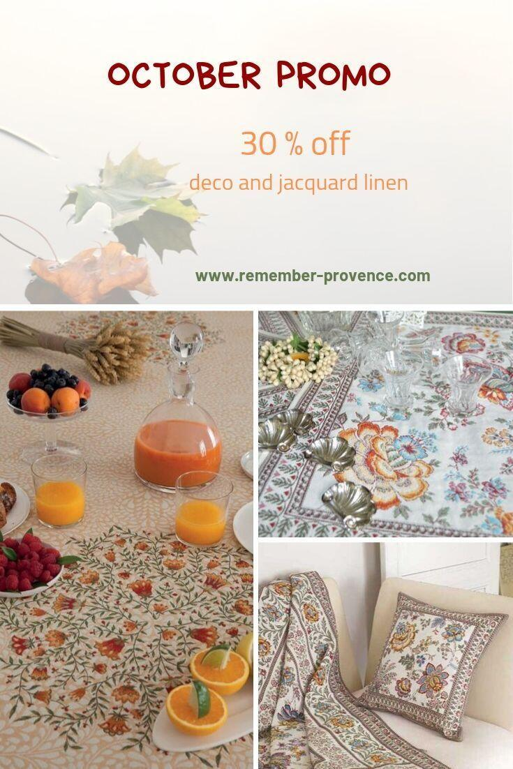 October Sale Jacquard Fabrics Provence