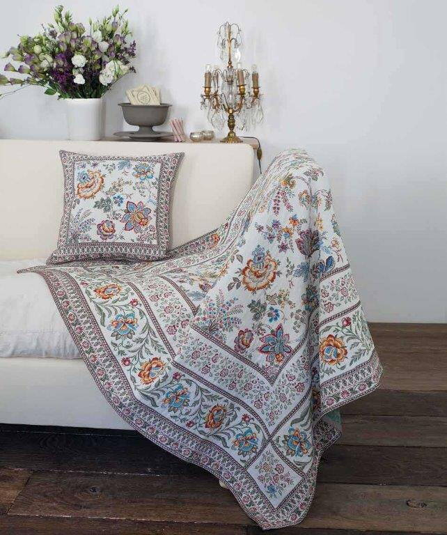 Cover Cushion Jacquard Fabrics Provence