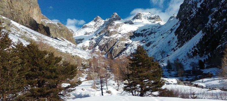 Beautiful Mercantour in Winter