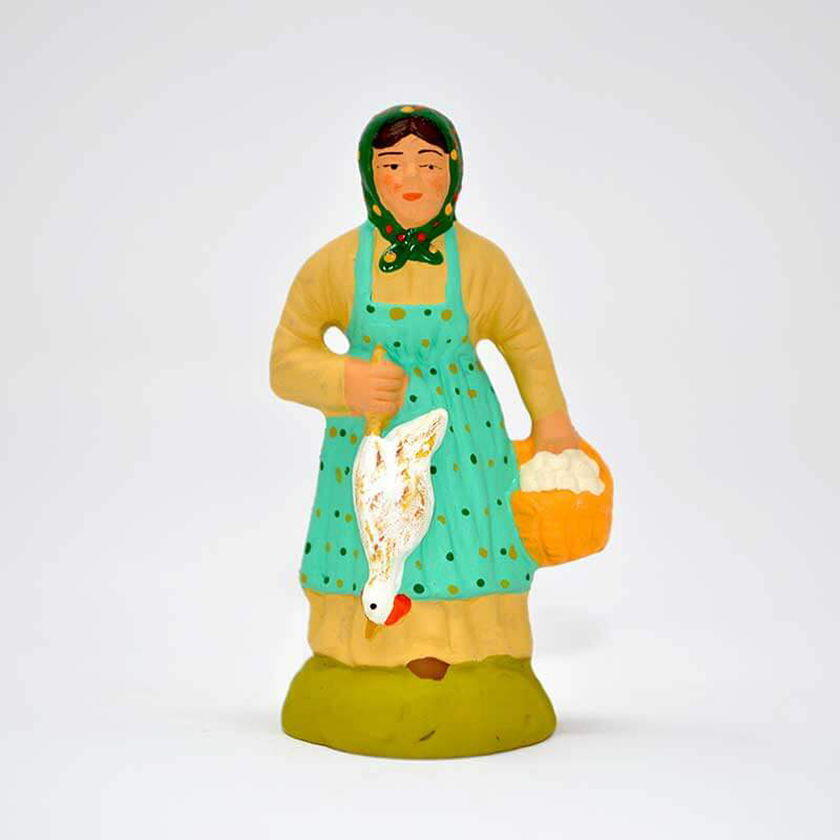 Santons Christmas Provence Chicken Lady