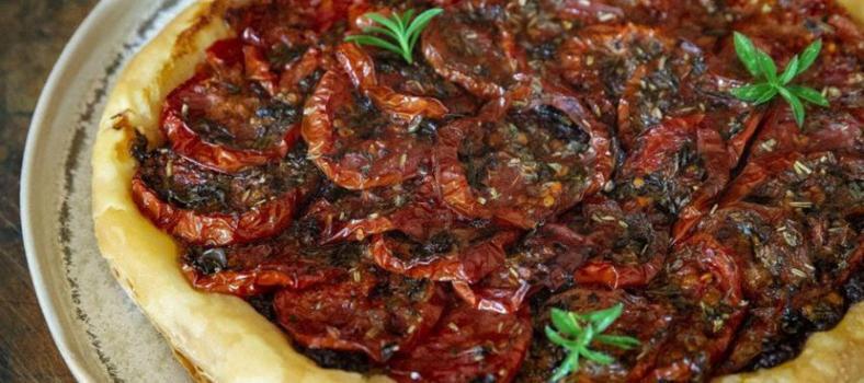 Tomato Tart Confit Tomatoes