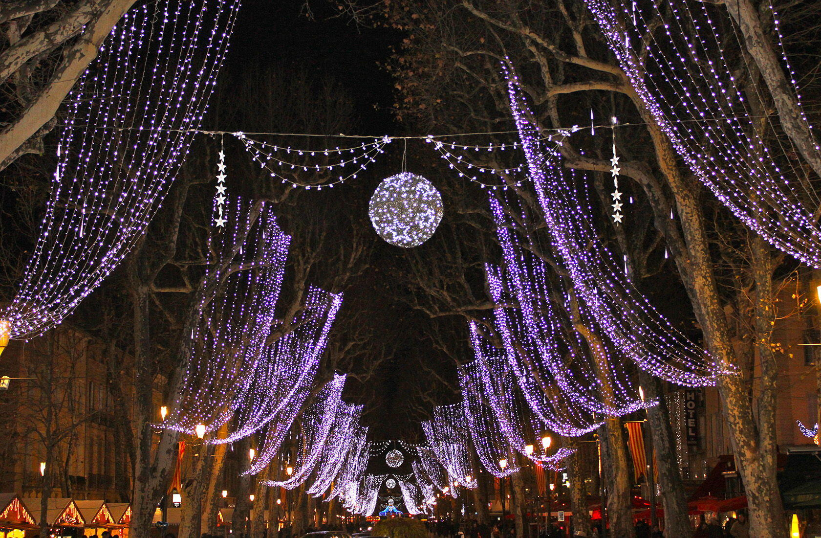 Winter in Provence Aix-en-Provence Cours Mirabeau Christmas