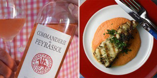 Sea Bass Rosé Wine Commanderie de Peyrassol